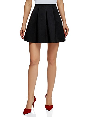 oodji Ultra Mujer Minifalda con Pliegues Suaves