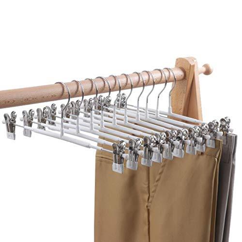 Nwn Metall-Pants Regal Haushalt Anti-Rutsch-Hanging Rock Clip Nano-Bold (Color : White, Size : 50)