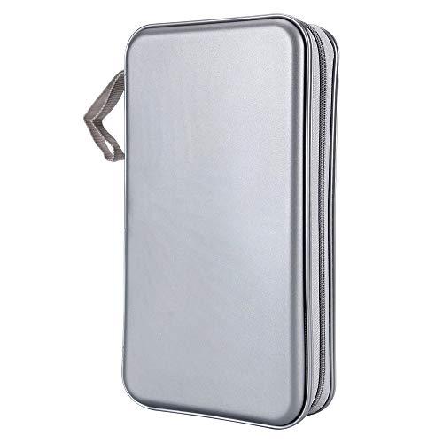 Siveit 80 Capacity Heavy Duty CD/DVD Wallet Binder, Storage, Case, Bag, Holder, Booklet (Silver)