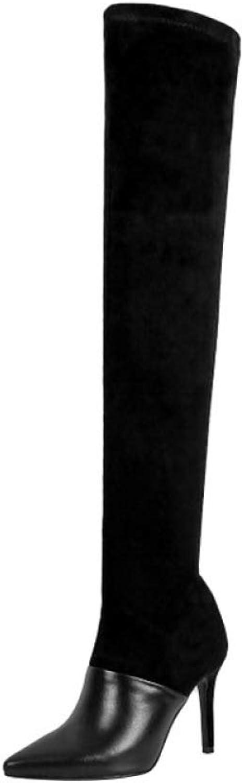 Damen über Die Kniestiefel Stilett Stilett High Heel Postleitzahl Lange Stiefel  verschiedene Größen