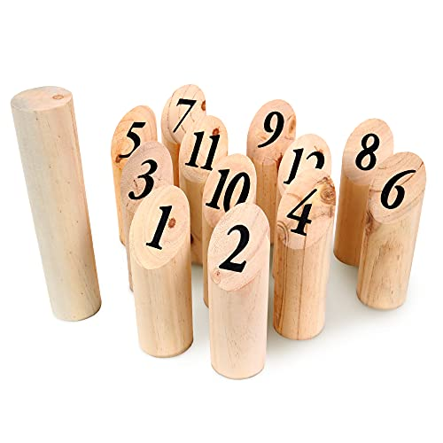 Les Zamibois Quilles Nordiques en bois-049712-22 cm-Bois-Jeu-À Partir de 6 Ans, 049712