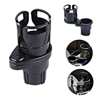 Multifunctional Vehicle-mounted Water Cup Drink Holder,360°Rotating Adjustable Universal Car Cup Holder Expander Adapter,2 in 1 Multifunctional Vehicle-mounted Water Cup Drink Holde (A)
