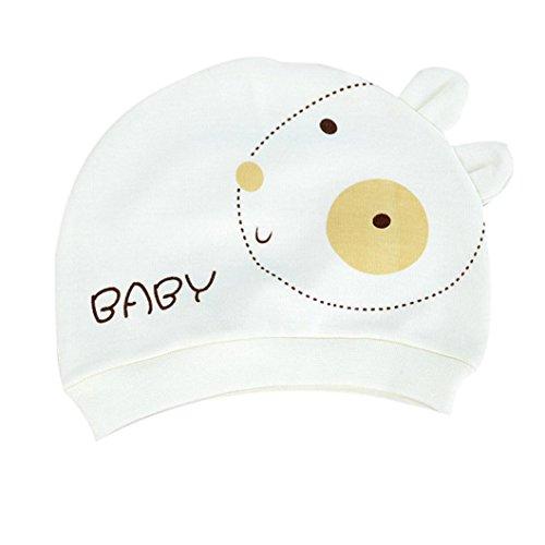 bébé Enfants Chapeau Longra l'automne Chapeau de bébé Chaud Coton Tout Petit Cap Beanie 0~3 Mois bébé (Jaune)