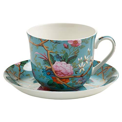 Maxwell & Williams Kilburn Tasse Avec Sous - Tasse Gb, Gobelet À Café / Thé, Victorian Garden, Porcelaine, Wk05300