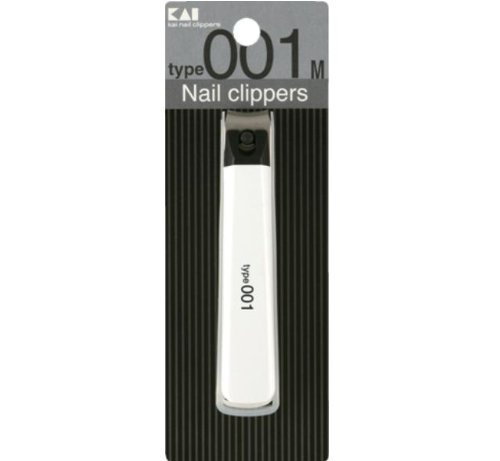 Japanese KAI Finger Toe Nail CLIPPER Nail Cutter White Made in Japan Type001M