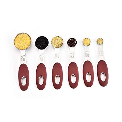 QingH yy Measuring Cup Acero Inoxidable Medición Cucharas con Conjuntos De Escala De 5, Medir Cucharas De Cocinar For Líquidos O Secos Ingredientes 0417