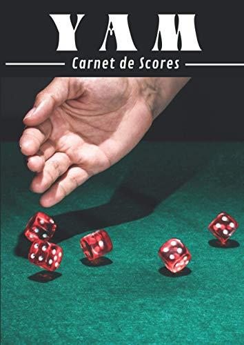 YAM Carnet de scores: 131 Feuilles de scores   YAMS Grille de score   Yahtzee bloc de marque