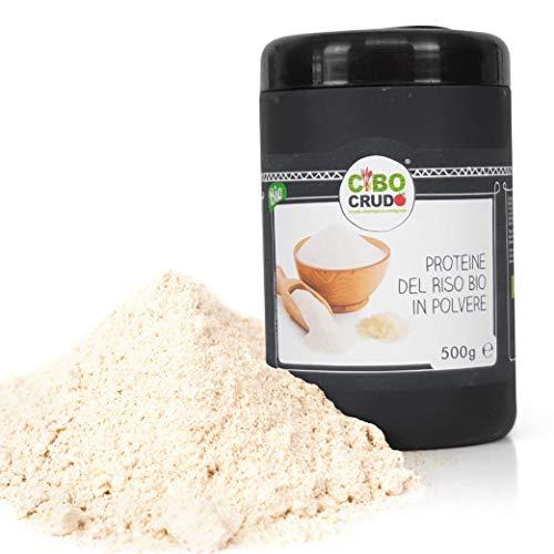 Cibocrudo Proteine Del Riso In Polvere, Rice Protein 83%, Proteine Vegetali, Alta Digeribilità, Elevato Valore Biologico, In Frullati Di Frutta, Cacao E Ricette Salate – 500 Gr