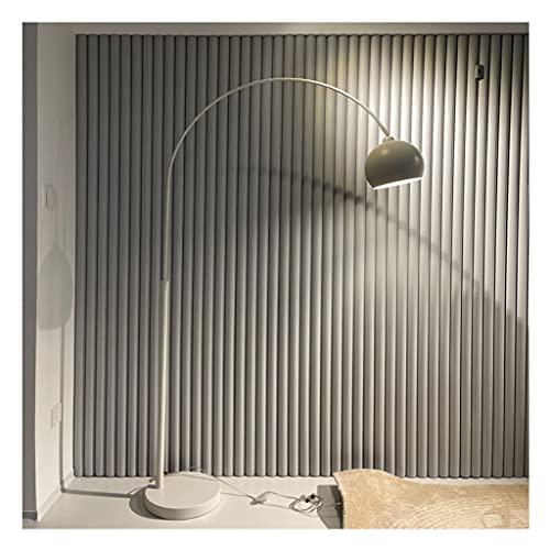 zdz Plata 12w DIRIGIÓ Lámpara de pie, Interruptor de pie Metal Moderno Brillante Scalable Ajuste de parábola Luz de Piso, para Dormitorio, Sala de Estar (Color : White)