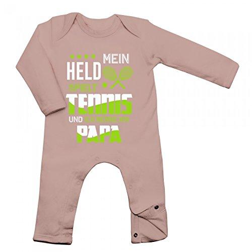 Tennis Babybody Berufe Follow Your Dreams Traumberuf Langarm Langärmliger Strampler, Farbe:Babyrosa (Powder Pink BZ13);Größe:6-12 Monate