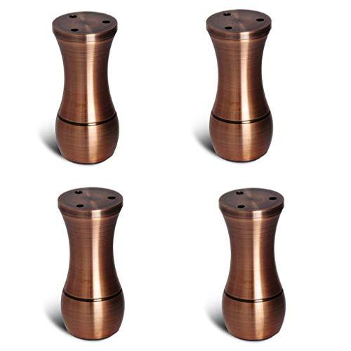 CHP - Patas modernas de hierro forjado, suela de goma antideslizante, capacidad de rodamiento de 400 kg, para sofá, otomano, mesa de café piezas de repuesto