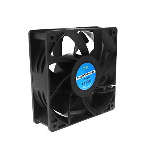 Create Idea - Ventilador de refrigeración CC (2 unidades, 12 V, 0,6 A, 120 x 120 x 38 mm, con CE para ordenador PC