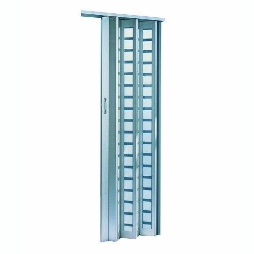 LTL Home Products HSMETRO3280ALSQ Spectrum Metro Frosted Square Plexiglas Accordion Folding Door, 36 x 80 Inches, Aluminum