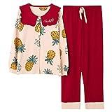 Pijama Mujer PrimaveraConjunto De Pijamas Suaves Y Cálidos De Primavera para Mujer, Ropa De Dormir De Aguacate De Seda Verde A La Moda De Otoño, Ropa De Dormir De Satén 100% Algodón para El Hogar-Ro