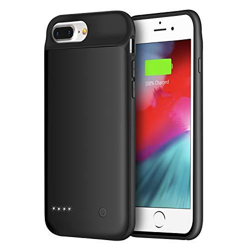Wixann Battery Case for iPhone 8 Plus/7 Plus/6 Plus/6s Plus, 4000mAh Slim Portable Charger Case Protective Rechargeable Battery Pack Charging Case for iPhone 8 Plus/7 Plus/6 Plus/6s Plus