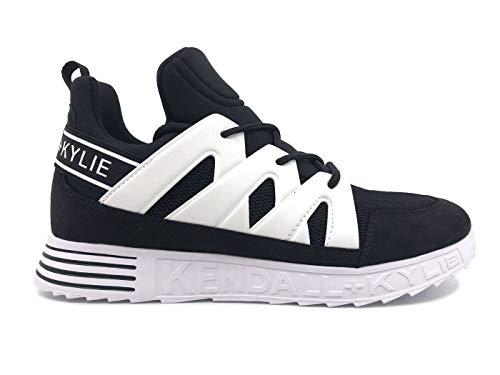 Kendall + Kylie Nate-B - Zapatillas deportivas para mujer de tela negra Negro Size: 6