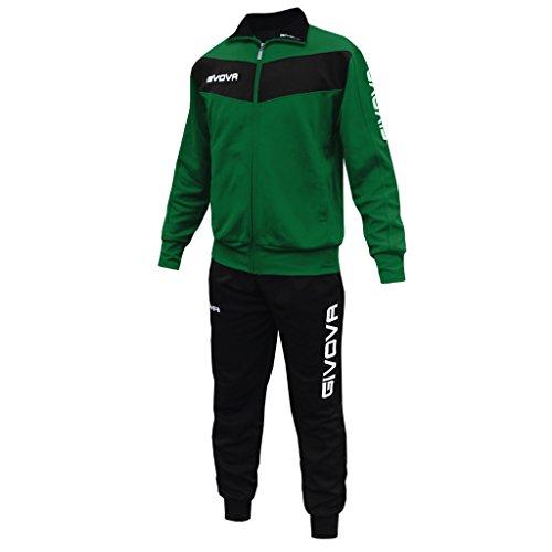 Givova Visa - Tuta Sportiva Uomo, Multicolore (Nero/Verde), 3XS
