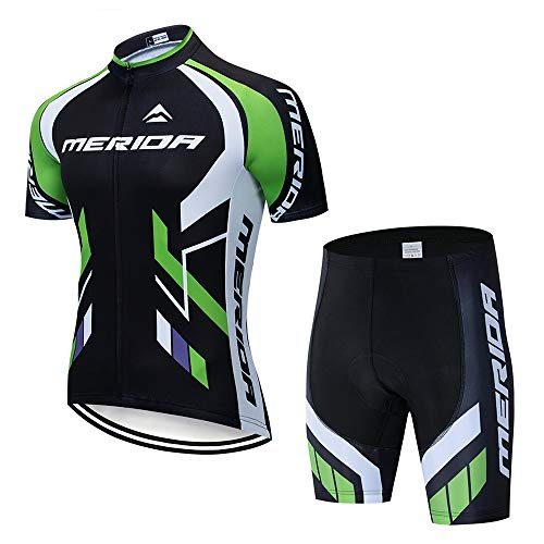Men's Cycling Jersey Short Sleeve Cycling Clothing Set with 3D Gel Padded Bib Shorts Pants Breathable Cycling Combo Clothing Set