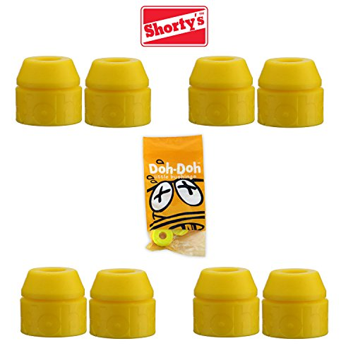 Shortys (10pr) Doh Doh Doh Yellow 92a Skateboard-Lenkgummis