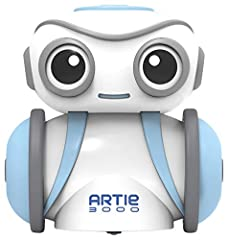 THE CREATIVE WAY TO LEARN CODING: Artie 3000 is the coding robot for kids where you design the code, and Artie 3000 draws the lines! With pre-programmed designs, beginners can start coding right away EASY SETUP! Artie 3000 requires 4 AA batteries (no...