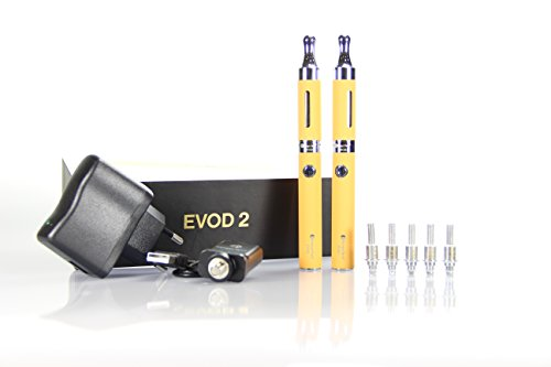 EVOD 2 E-Zigarette (Clearomizer) Set in gelb - Original Kangertech