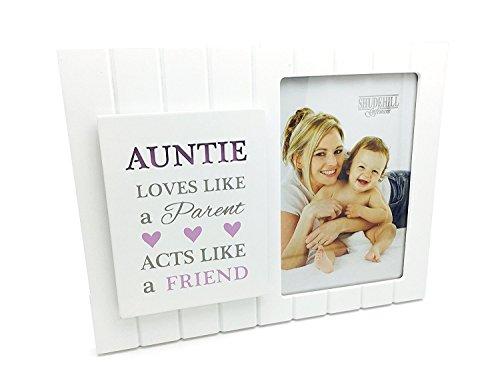 Vintage Style Madison Auntie cadeau cadre photo avec plaque et sentiment