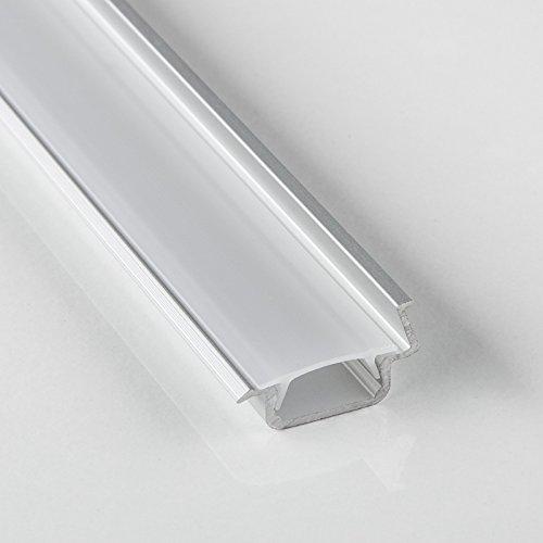 25 x SO-TECH®Profilé-88 LED Profilé à Encastrer Profilé à Fraiser 2000 x 21,5 mm avec Cache Opaque   Angle 30°   pour Éclairage Indirect