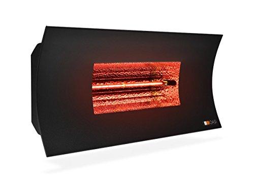 Radialight® ️ SQBAL003 Lámpara infrarroja halógena exterior Oasi HT (2000 W) eléctrica Eco estufa calefactor bajo consumo Protección de humedad IPX 5