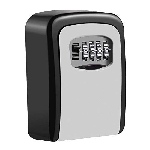 NBWS Caja de Seguridad con código de 4dígitos Caja para Montaje en Pared Resistente a la Intemperie para Llave y Tarjeta de Acceso, Caja Llavero Externa para Casa, oficinas y Garaje