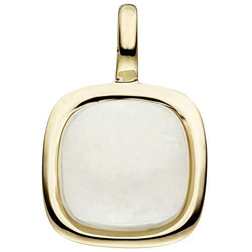 JOBO Damen-Anhänger aus 585 Gold mit Opal