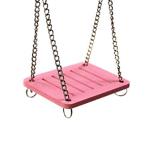 Savlot schattige papegaai schommel hamster schommel huisdier hangend bed shake hangen huis rekwisieten mooie papegaai schommel klein bed, roze