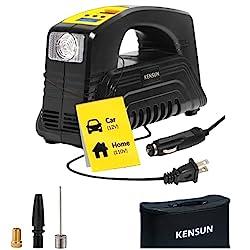 Kensun AC/DC Tire Inflator - Rapid Performance Portable Air Compressor