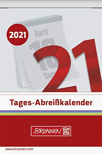 BRUNNEN 1070304001 Tages-Abreißkalender Nr. 4, 1 Seite = 1 Tag, 65 x 98 mm, Kalendarium 2021