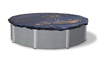 Blue Wave BWC508 24-ft Round Leaf Net Above Ground Pool Cover,Black 24-Feet