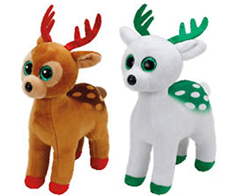 Beanie Babies Reindeer Gift Pack TInsel and Peppermint