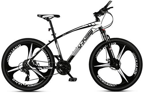 Mountain bikes, 27,5 pollici da uomo in mountain bike e adulto for adulti ultraleggeri for bicicletta da corsa ultraleggeri Telaio in lega con freni a disco ( Color : Black white , Size : 21 speed )
