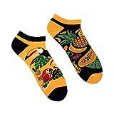 Spox Sox Low Unisex - mehrfarbige, bunte Sneaker Socken für Individualisten, Gr. 36-39, Tropisch