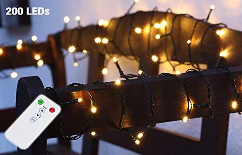 Albero di Natale a LED luce catena–Telecomando 8funzioni–Interno Esterno