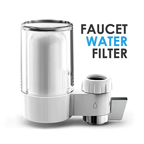 Bigvapor Wasserhahnfilter für Trinkwasser, Aktivkohle Wasserhahn Wasserfilter 7-lagige Präzisionsfiltration Dual Outlets Design für Küche Badezimmer