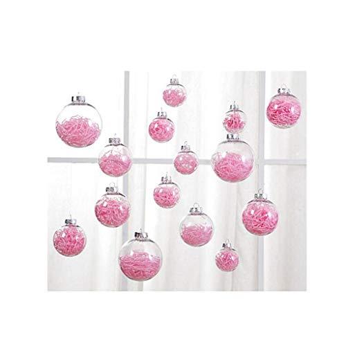 DZWLYX Weihnachtskugel Rosa glänzend glitzernd matt Christbaumschmuck bis(6/8/10cm) Baumschmuck Weihnachten Deko Anhänger