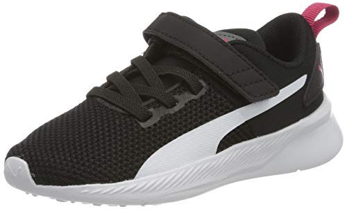 PUMA Flyer Runner V INF, Zapatillas Unisex niños, Negro Black White/Castlerock/Bright Rose, 24 EU