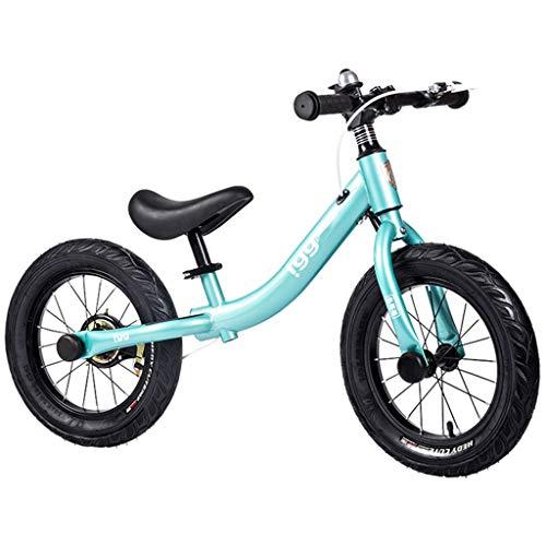 Bicicleta sin pedales bici Bicicleta de equilibrio de 36 cm (14 pulgadas) - Bicicleta de entrenamiento para niños grandes sin pedales con freno de mano , 4 5 6 7 8 años de edad, niña niño Regalo de cu