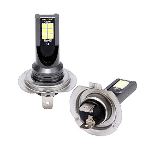 MCYAW H7 80W 11000lm Beam 6000K Kit LED Fog Bombilla Día de la luz LED LED Light Light Light CONVERSIÓN Globos Bulbs (Emitting Color : Aluminum)