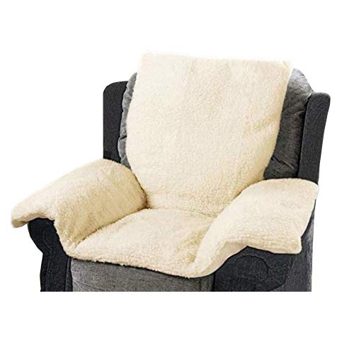 UK Care Direct Soft Sherpa Fleece Cosy and Warm Comfort Chair Nest for Armchairs and Wheelchairs – CREAM