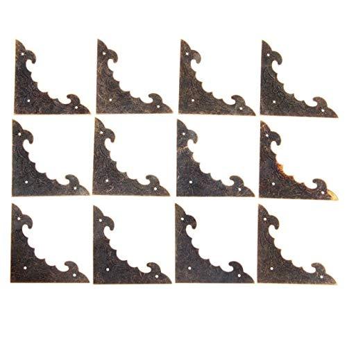 Die Halterung ist auf rechten Winkeln und Ecken befestigt 12st 40 / 58mm Dekoration Corner Bracket Antikschmuck Holzkiste Fuß Bein Eckenschutz Crafts Möbelbeschläge Hardware (Color : Size 58x58mm)