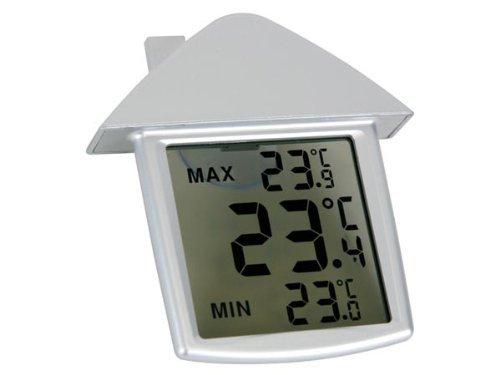 VELLEMAN - TA25 transparentes Fenster-Thermometer, 89.5 mm x 97.5 mm x 20 mm Maße 406121