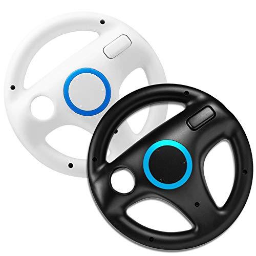 SONVIEE - Volante per WII Mario WII volante per gioco da corsa, 2 pezzi, colore: Bianco e Nero