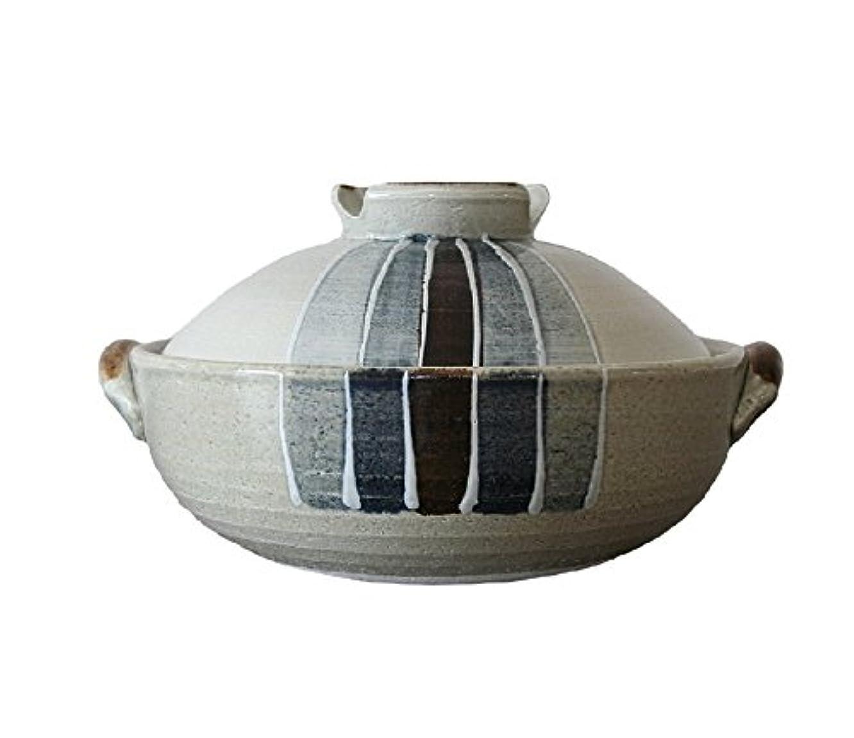 スラッシュパラナ川盲目萬古焼 三鈴陶器 一珍トクサ 土鍋 (8号)