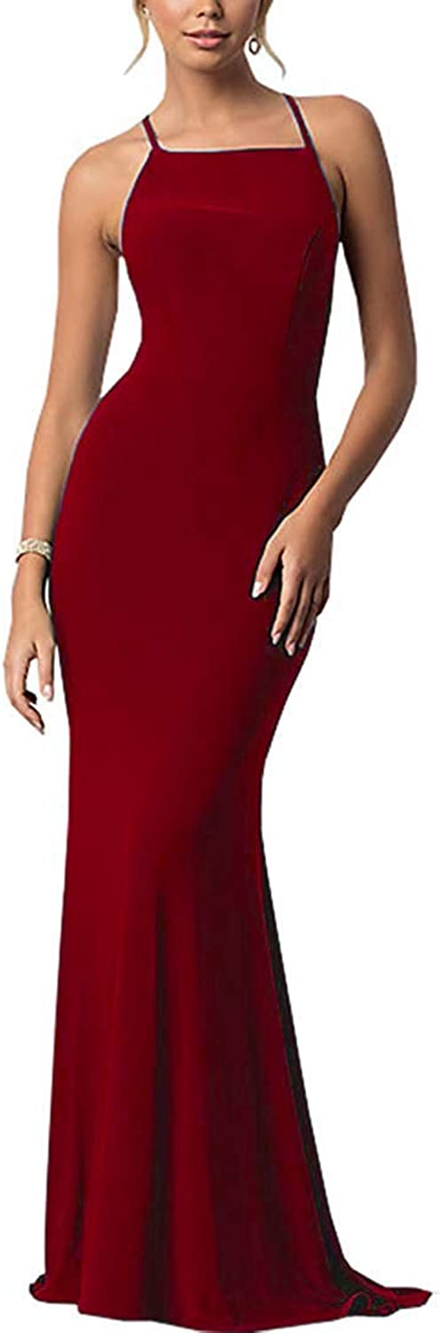 Ever Girl Women's Mermaid Long Evening Gowns Lace Prom Dresses with Sleeves