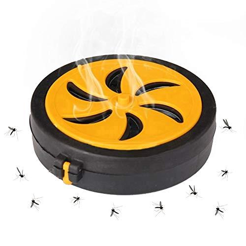 SwirlColor Mückenspulenhalter, tragbar, Kunststoff, Metall, rund, für Camping, Reisen, Veranstaltungen, Hof und Garten (Outdoor)